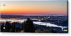Vancouver Sunrise British Columbia Acrylic Print by Pierre Leclerc Photography