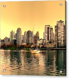 Vancouver Triptych Centre Panel Acrylic Print by Patricia Keith