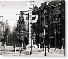 Acrylic Print featuring the photograph Vancouver's Chinatown by Cendrine Marrouat