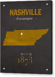 Vanderbilt University Commodores Nashville Tennessee College Town State Map Poster Series No 118 Acrylic Print by Design Turnpike