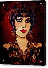 Vanessa Acrylic Print by Natalie Holland