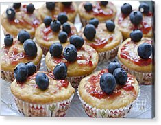 Vanilla Cupcakes With Fresh Blueberries Acrylic Print