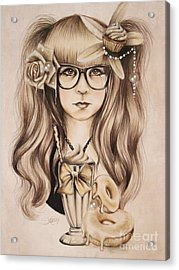 Acrylic Print featuring the mixed media Vanilla by Sheena Pike