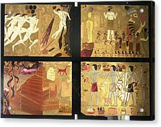 Acrylic Print featuring the painting Vanished Civilization by Ray Khalife