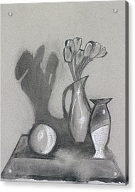 Acrylic Print featuring the mixed media Vanishing Vase by Artists With Autism Inc