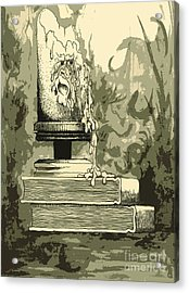 Bougie Acrylic Print by Julio Lopez
