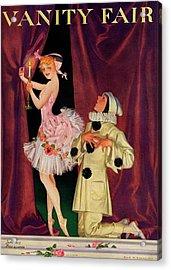 Vanity Fair Cover Featuring A Ballerina Acrylic Print by Frank X. Leyendecker