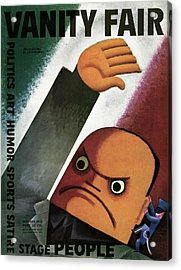 Vanity Fair Cover Featuring  A Caricature Acrylic Print by Miguel Covarrubias