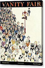 Vanity Fair Cover Featuring A Crowd Acrylic Print by John Held Jr