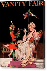 Vanity Fair Cover Featuring A Lady On A Chaise Acrylic Print by Frank X. Leyendecker