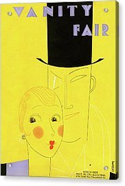 Vanity Fair Cover Featuring A Man With A Monocle Acrylic Print