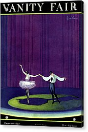 Vanity Fair Cover Featuring A Masked Male Dancer Acrylic Print by William Bolin