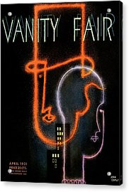 Vanity Fair Cover Featuring A Neon Illustration Acrylic Print
