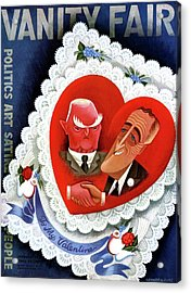 Vanity Fair Cover Featuring A Valentine Acrylic Print