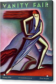 Vanity Fair Cover Featuring A Woman Dancing Acrylic Print by Symeon Shimin