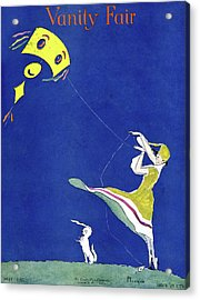 Vanity Fair Cover Featuring A Woman Flying A Kite Acrylic Print by Ethel Plummer