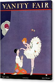 Vanity Fair Cover Featuring Dancers Flirting Acrylic Print by A. H. Fish