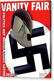 Vanity Fair Cover Featuring Hitler's Face Acrylic Print