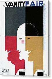 Vanity Fair Cover Featuring Three Profiles Acrylic Print