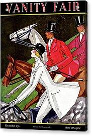 Vanity Fair Cover Featuring Two Men And A Woman Acrylic Print by Joseph B. Platt