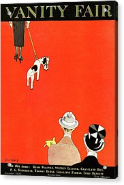 Vanity Fair Cover Of Dog Walking Acrylic Print by John Held Jr