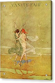 Vanity Fair Cover Featuring Two Nymphs Acrylic Print
