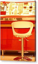 Vanity Red Acrylic Print by Vishakha Bhagat