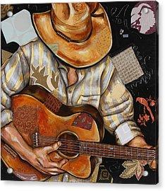 Vaquero De The Acoustic Guitar Acrylic Print