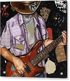 Vaquero De The Bass Guitar Acrylic Print