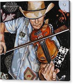 Vaquero De The Fiddle Acrylic Print
