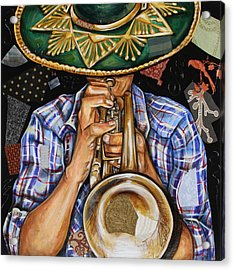 Vaquero De The Trumpet Acrylic Print