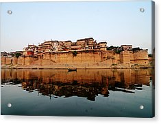 Varanasi Ramnagar Fort Acrylic Print by Money Sharma