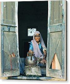 Varanasi Water Seller Acrylic Print