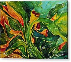 Acrylic Print featuring the painting Variation  No.2 by Teresa Wegrzyn
