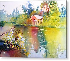 Variations Of Lake Scene Acrylic Print