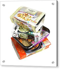 Various Ready Meals Acrylic Print by Science Photo Library