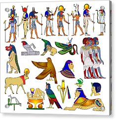 Various Themes Of Ancient Egypt Acrylic Print by Michal Boubin