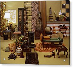 Various Tortoise Shell Furniture And Accessories Acrylic Print by Tom Yee