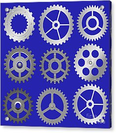 Various Vector Gears Acrylic Print by Michal Boubin