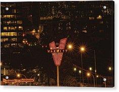Varsity Sparkles Acrylic Print by Lisa Marie Pane