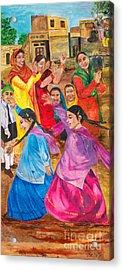 Vasakhi In A Punjab Village Acrylic Print