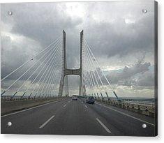 Vasco Da Gama Bridge In Lisboa Acrylic Print