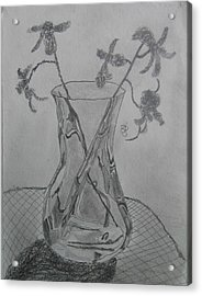 Acrylic Print featuring the drawing Vase by AJ Brown