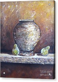 Vase And Pears Acrylic Print