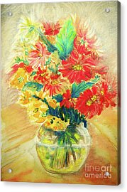 Acrylic Print featuring the painting Vase by Jasna Dragun