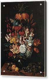 Vase Of Flowers Acrylic Print by Abraham Bosschaert