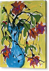 Vase Of Flowers Acrylic Print by Alison Caltrider
