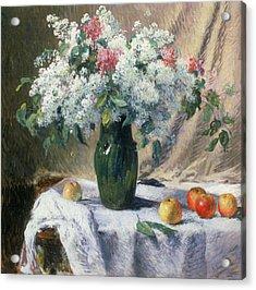 Vase Of Flowers Acrylic Print by Henri Lerolle