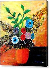 Vase Of Flowers Acrylic Print by Mauro Beniamino Muggianu