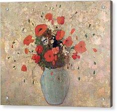 Vase Of Poppies Acrylic Print by Odilon Redon